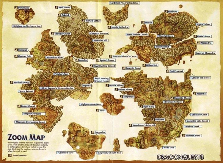 Dragon Quest VIII El periplo del Rey Maldito Pepinillos en Vinagre